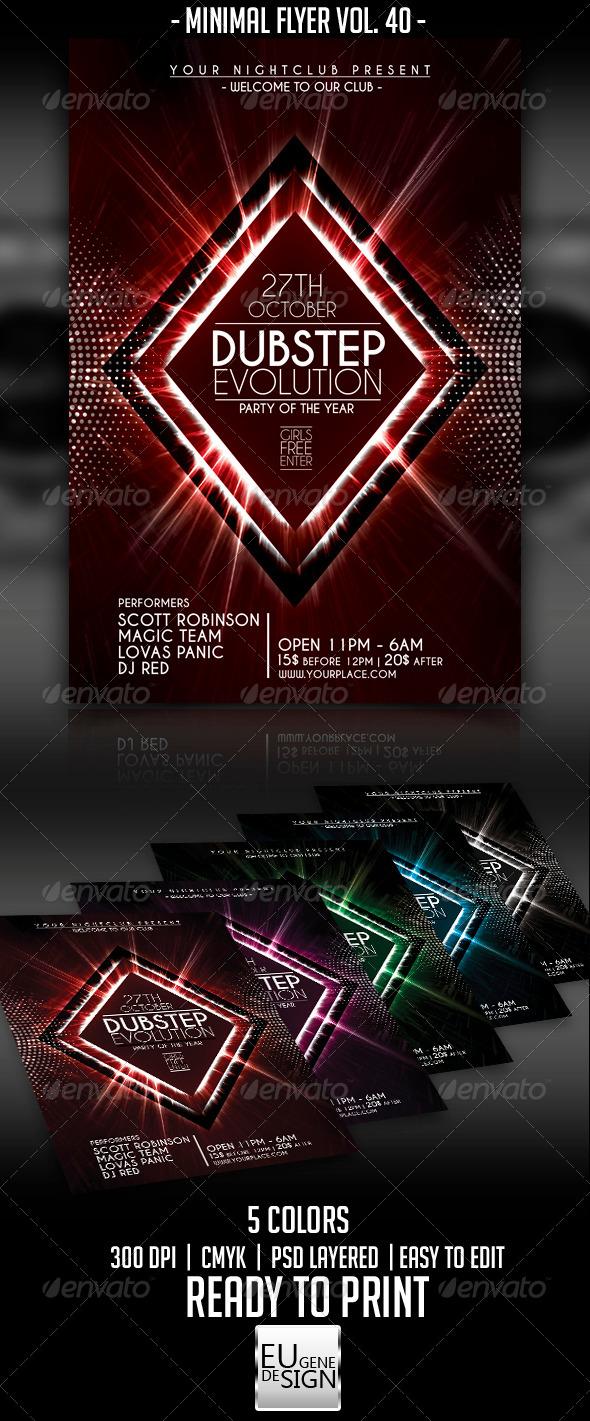 Minimal Flyer Vol. 40 - Clubs & Parties Events