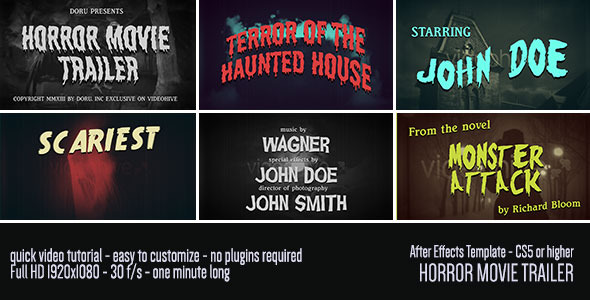 Classic Movie Intro Trailer Pack by doru | VideoHive