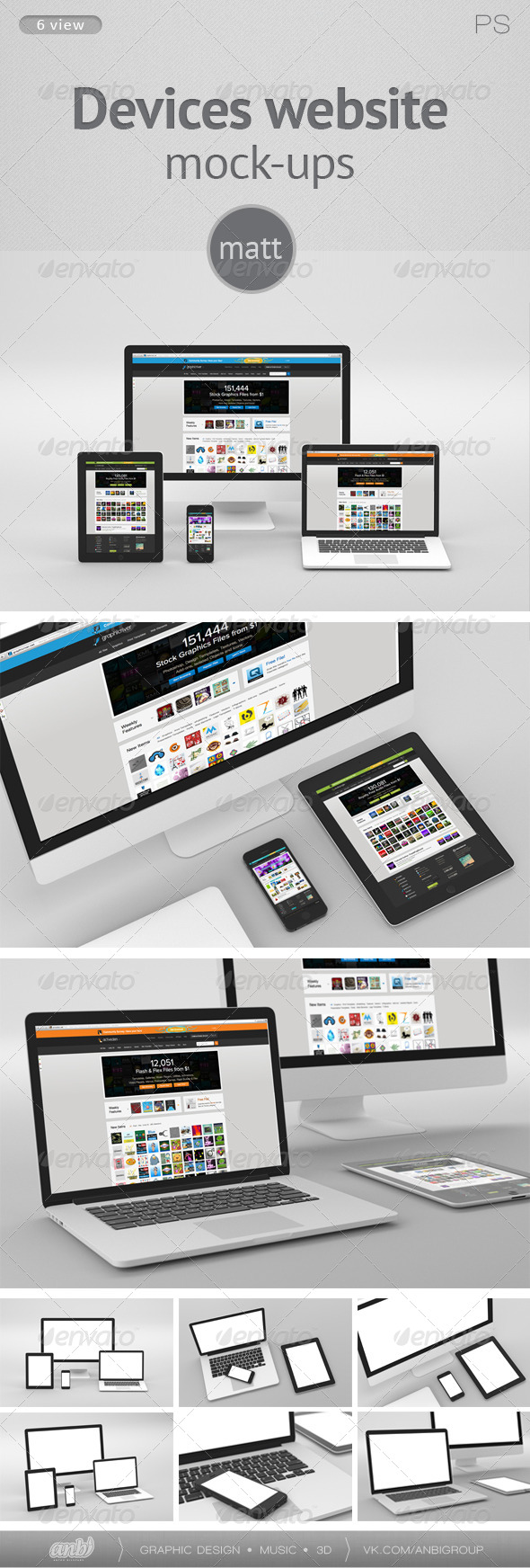 GraphicRiver Devices website Mock-ups matt 5702607