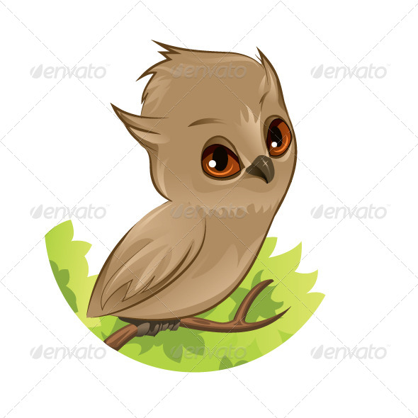 GraphicRiver Owl on a branch 5727357