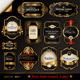 Dark Gold-Framed Labels - GraphicRiver Item for Sale
