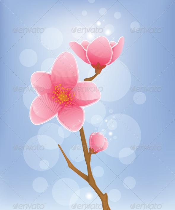 GraphicRiver Spring Concept Cherry Blossom 5727609