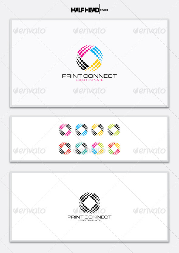 Print Connect Logo Template