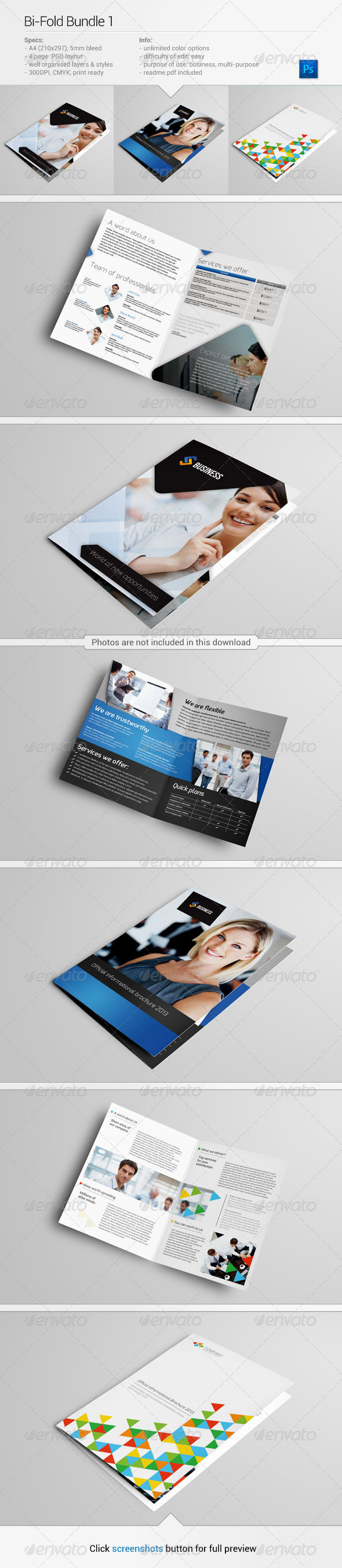 Bi-Fold Bundle 1 - Corporate Brochures