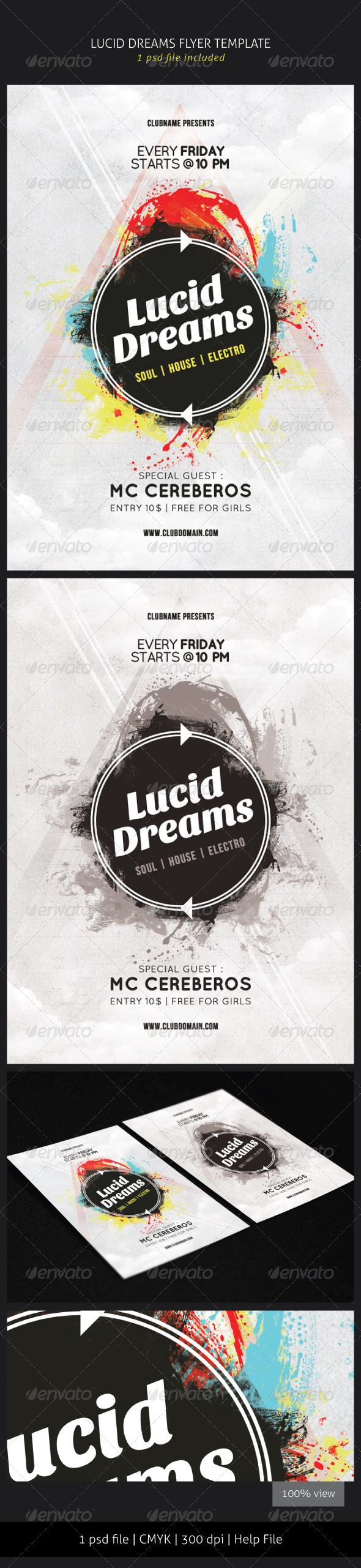 GraphicRiver Lucid Dreams Flyer Template 5728055