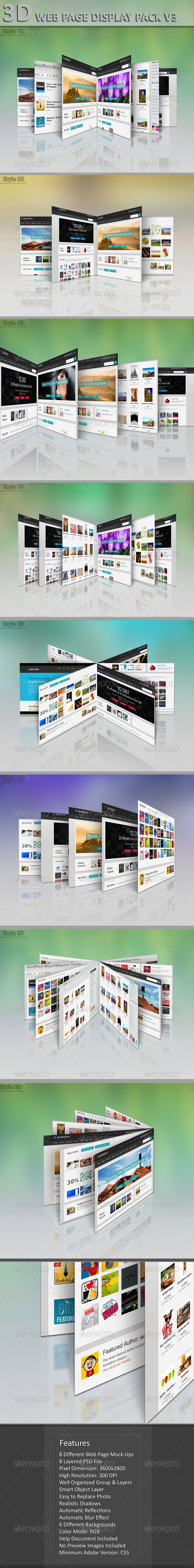 GraphicRiver 3D Web Page Display Pack V3 5728226