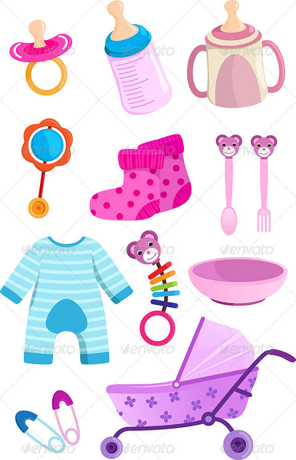 GraphicRiver Baby items 5728719
