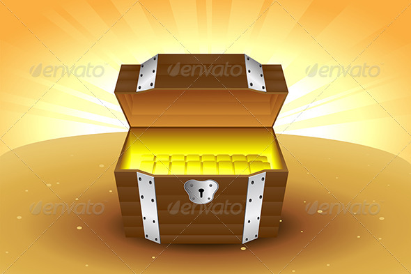 GraphicRiver Wooden Treasure Chest 5729049