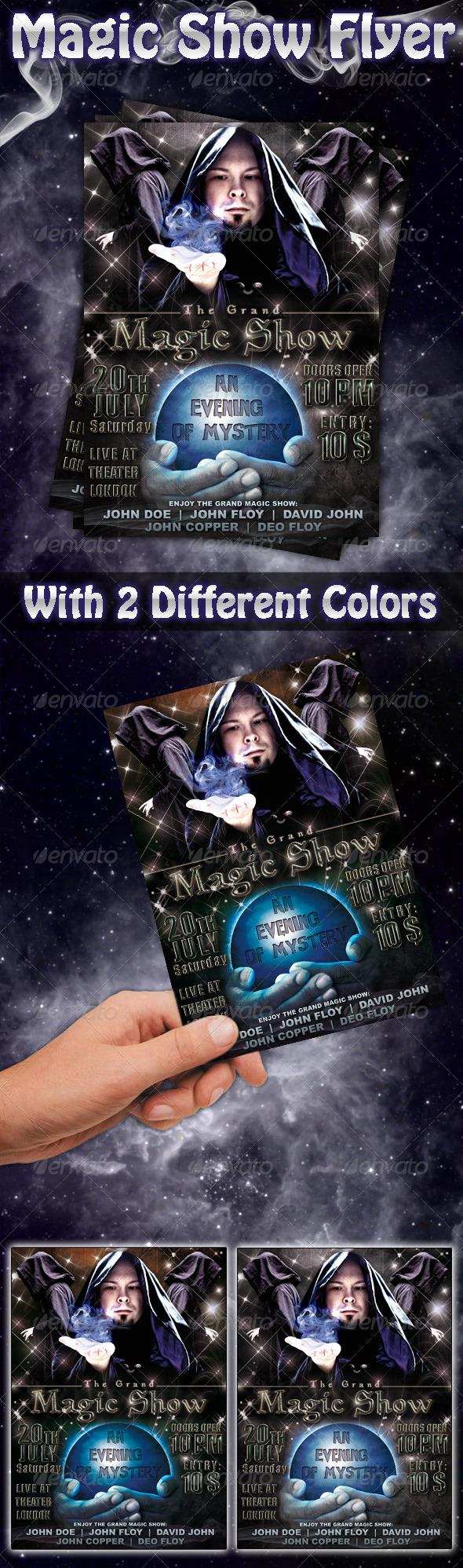 Magic Show Flyer - Miscellaneous Events
