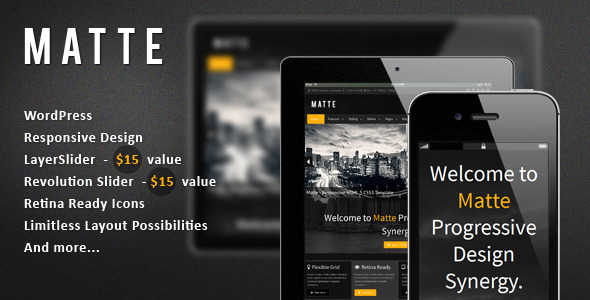 Matte - Responsive WordPress Theme