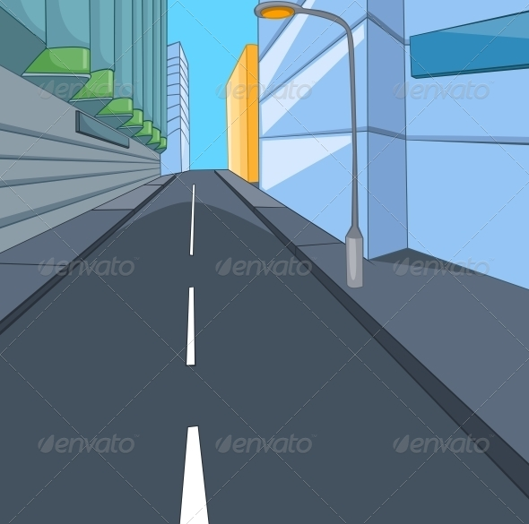 GraphicRiver City Cartoon 5729116