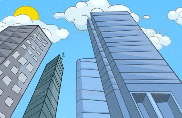 GraphicRiver City Cartoon 5729119