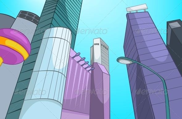 GraphicRiver City Cartoon 5729120
