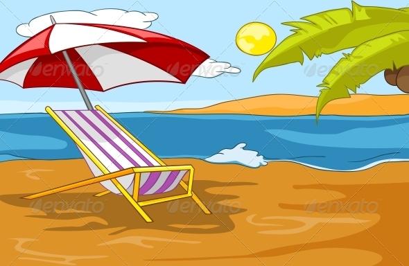 GraphicRiver Beach Cartoon 5729124