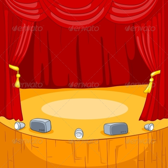 GraphicRiver Theater Stage Cartoon 5729132