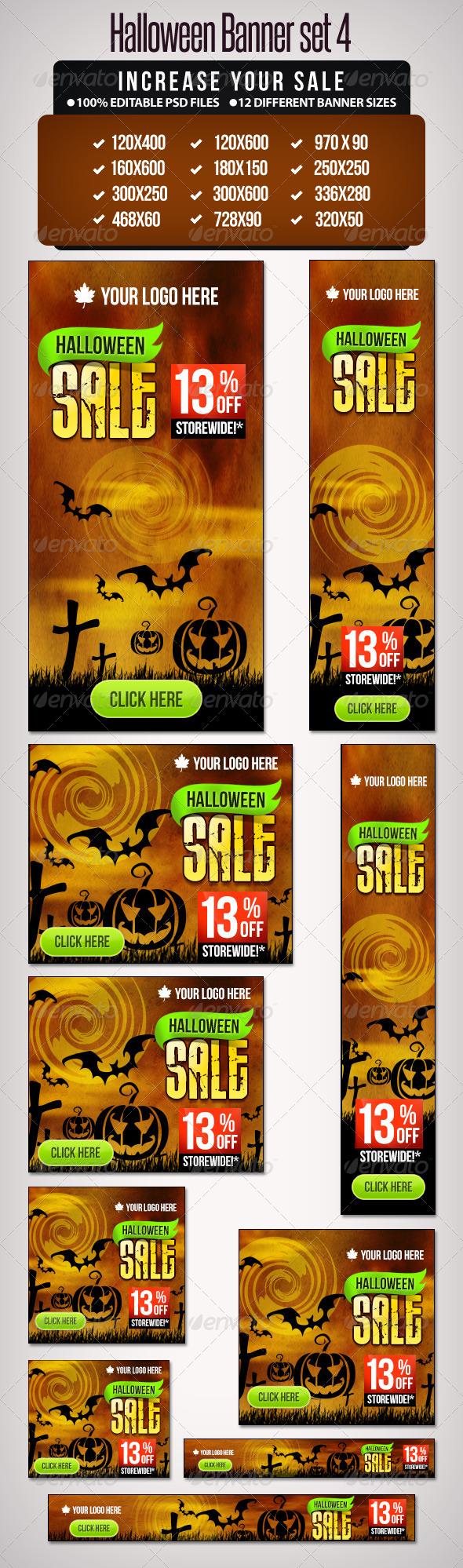 GraphicRiver Halloween Banner Set 4 12 Google Standard Sizes 5729134