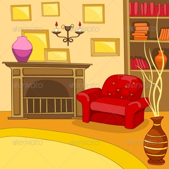 Living Room Clip Art: Backgrounds Decorative