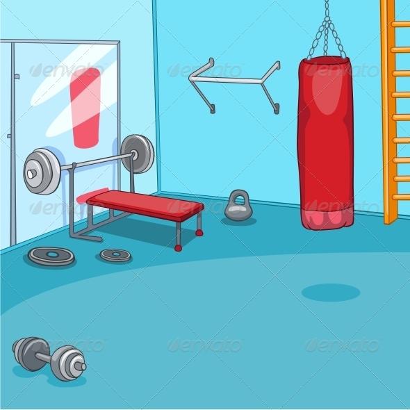 Gym room graphicriver