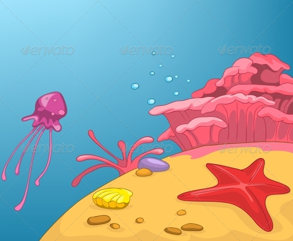 GraphicRiver Beach Cartoon 5729177