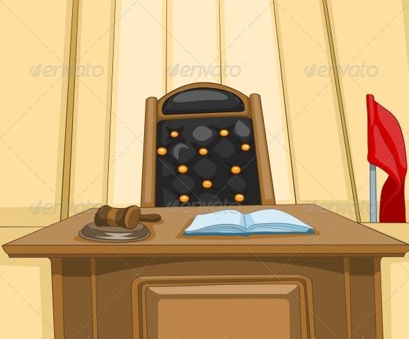 GraphicRiver Court Cartoon 5729198