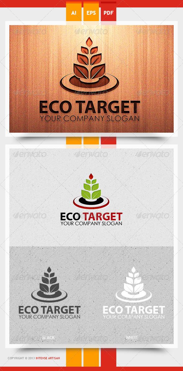 GraphicRiver Eco Target Logo Template 5729202
