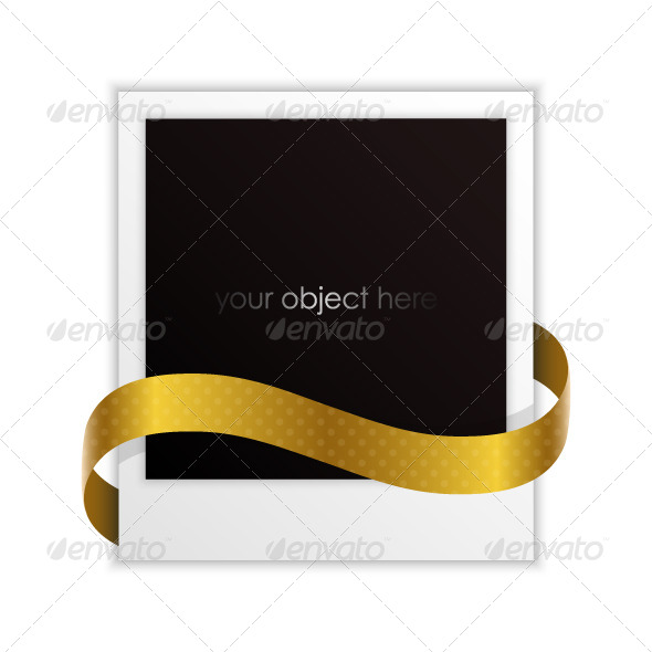GraphicRiver Photo Frame with Golden Ribbon 5685104