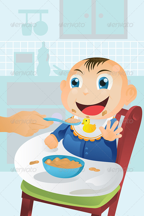 GraphicRiver Feeding Baby Time 5684981