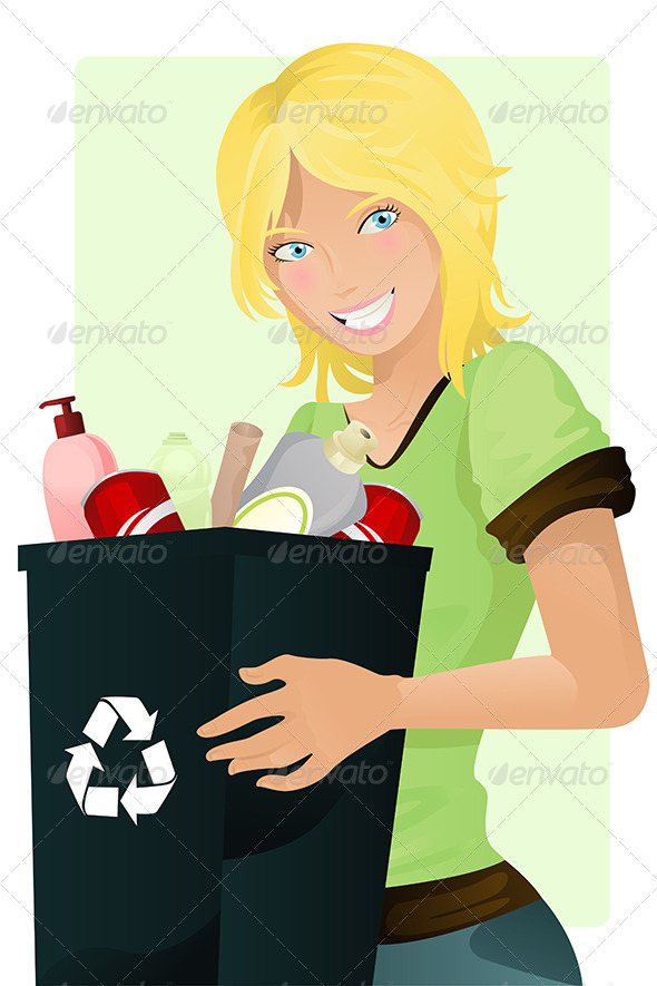 GraphicRiver Recycling Girl 5685123