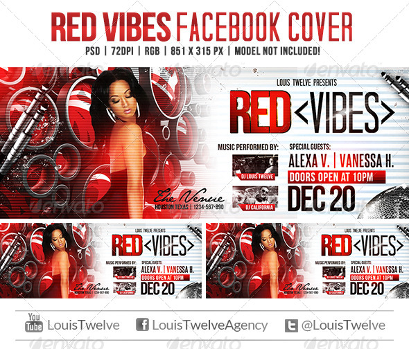 GraphicRiver Red Vibes Facebook Cover 5729428