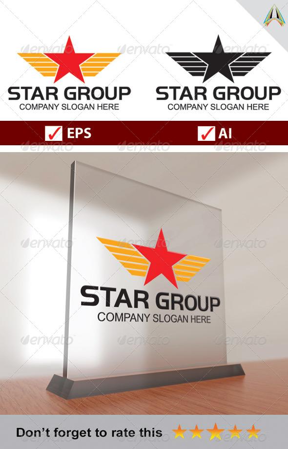 GraphicRiver Star Group Logo 5729436