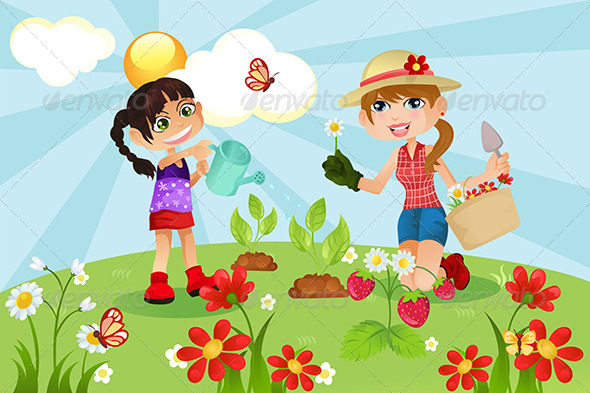 GraphicRiver Gardening Family 5691757