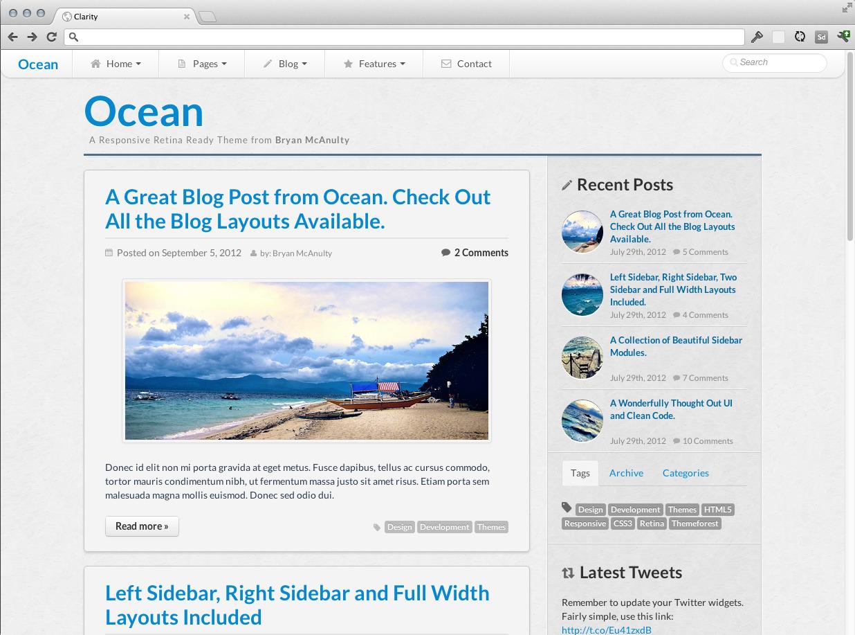 Ocean - Responsive HTML5 Template