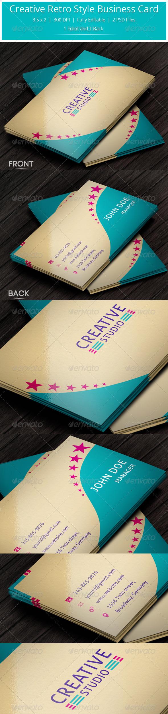 GraphicRiver Creative Retro Style Business Card 5729550