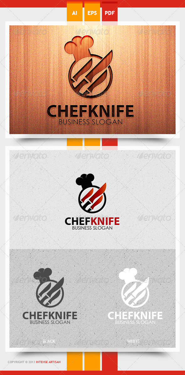 GraphicRiver Chef Knife Logo Template 5729628