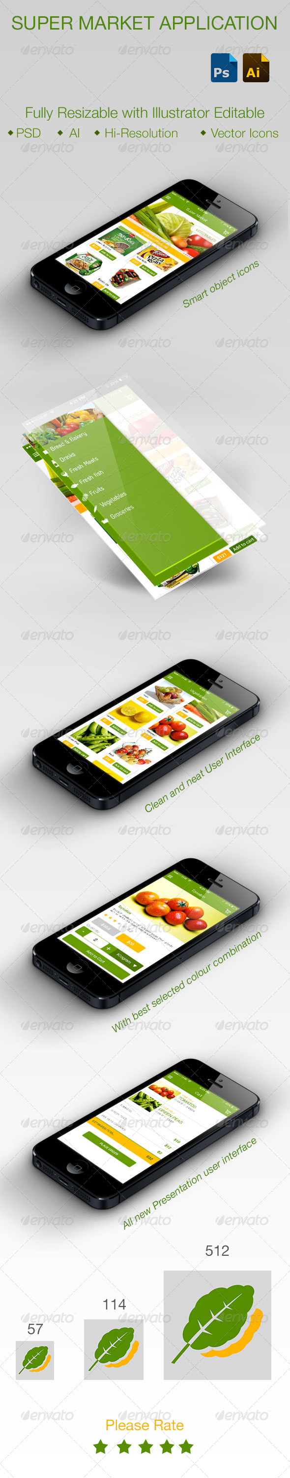 GraphicRiver Online Super Market Application for Smartphones 5729631