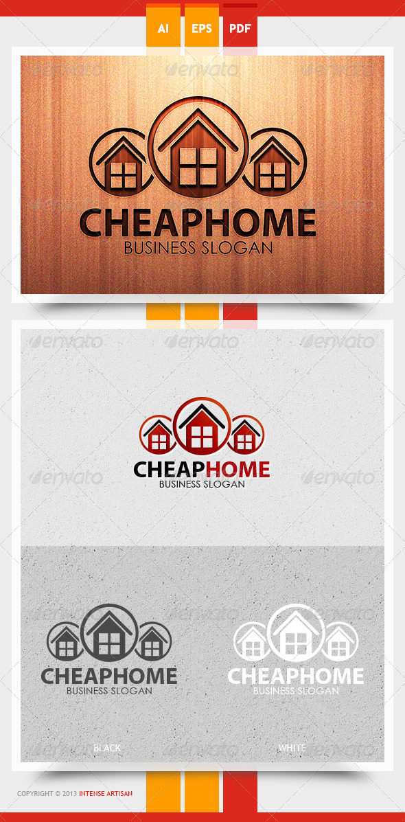 GraphicRiver Cheap Home Logo Template 5729636