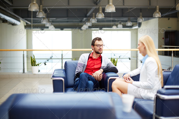 Partners interacting - Stock Photo - Images