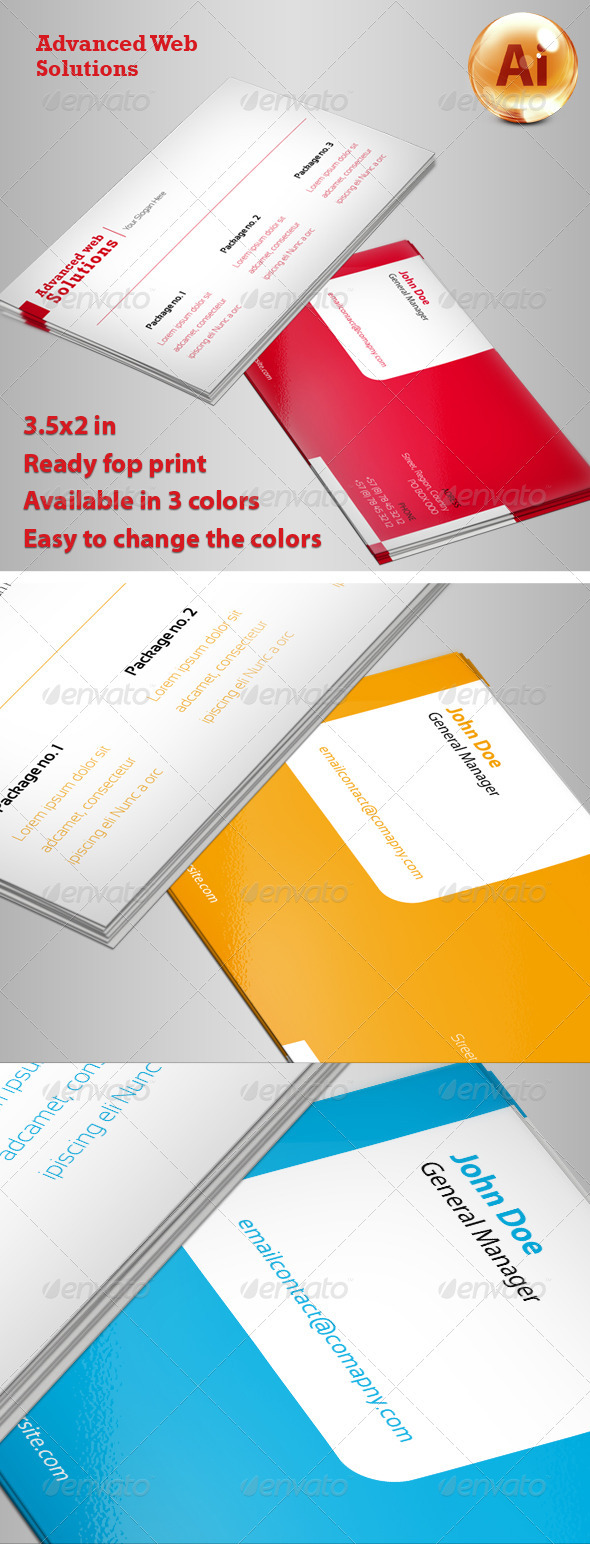 Advanced Business Card - Corporate Business Cards