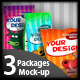 3 packages mock up - GraphicRiver Item for Sale