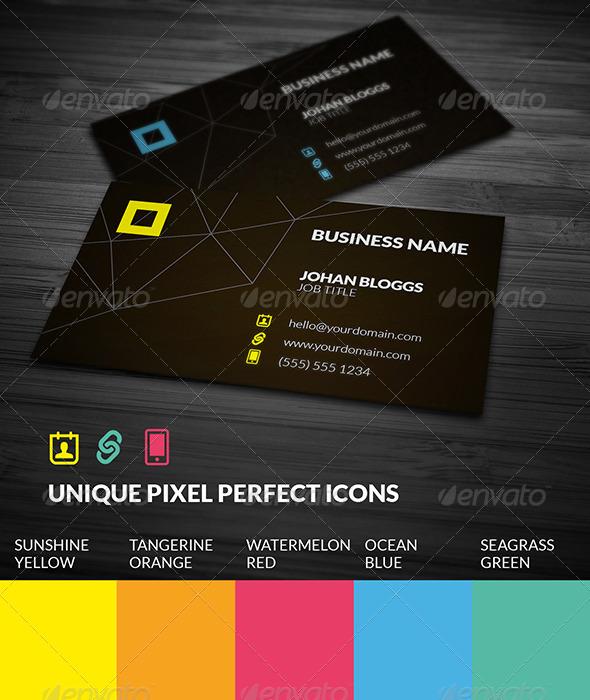 GraphicRiver Super Minimal Dark Business Card 5730131