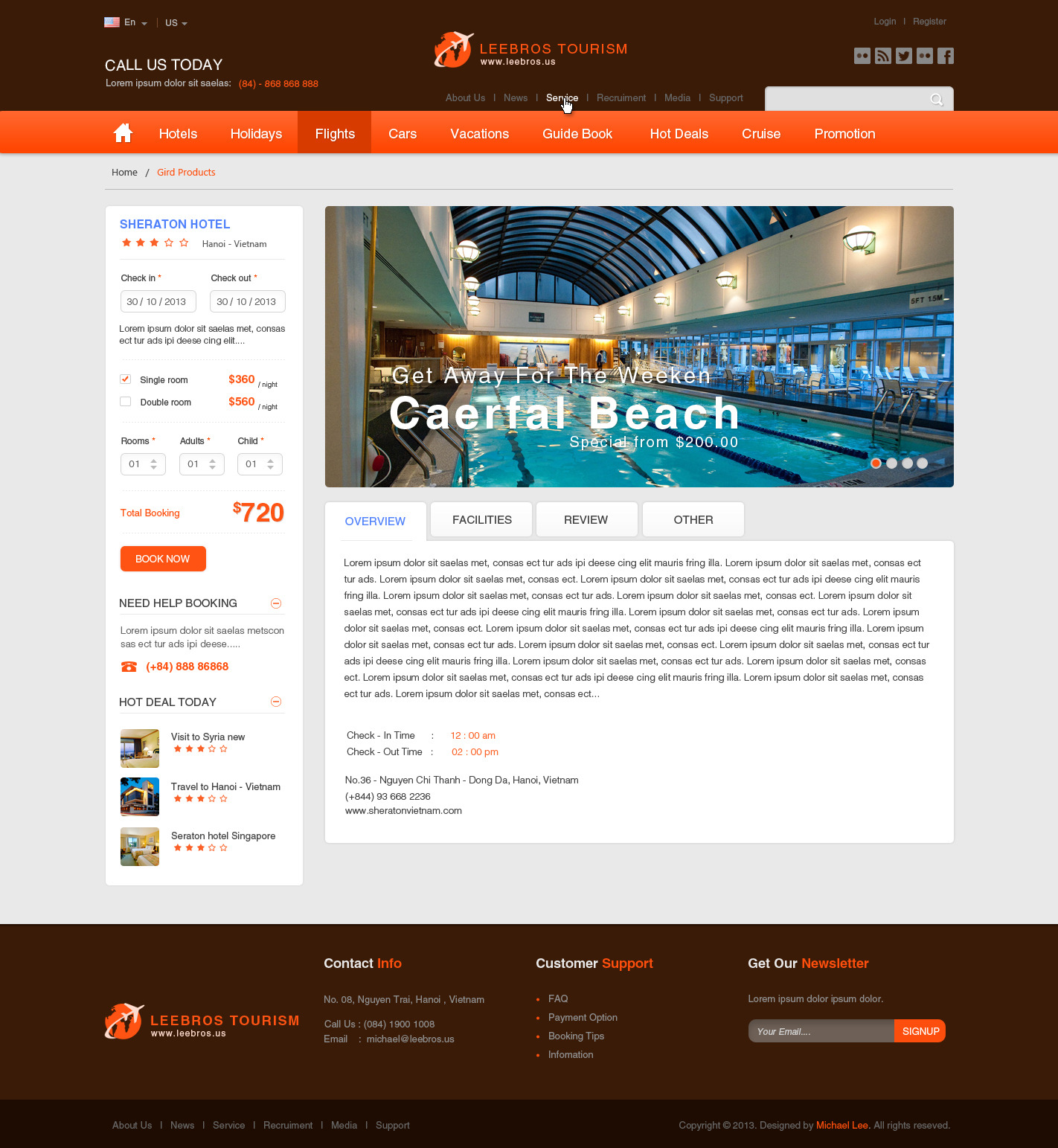 The Booking Travel - PSD Template