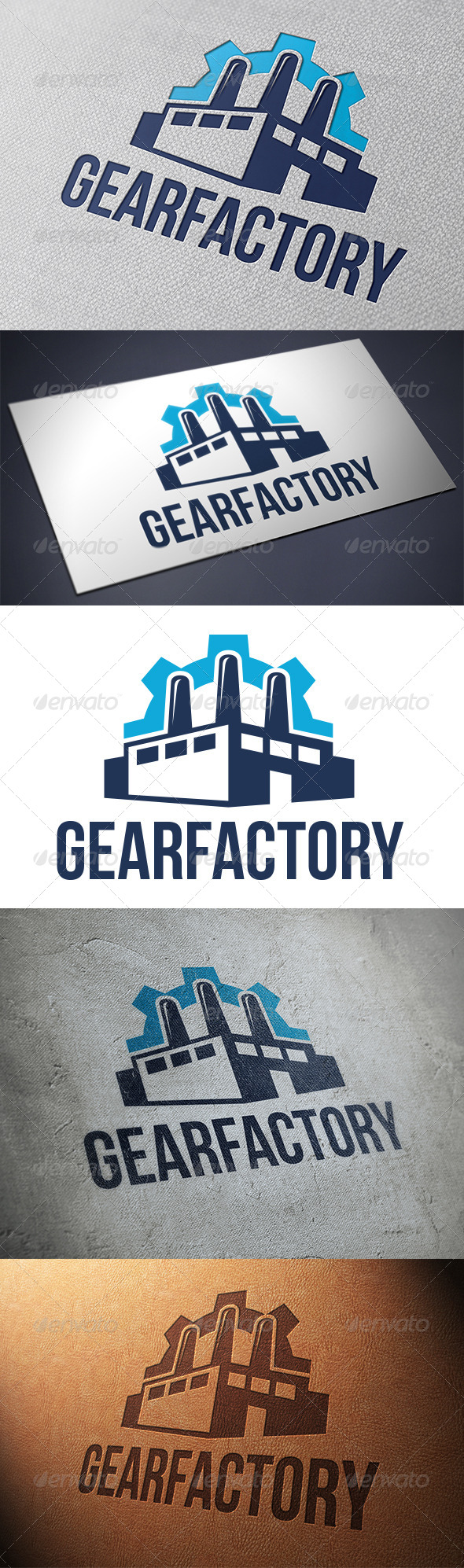 Gear Factory Logo Template - Buildings Logo Templates
