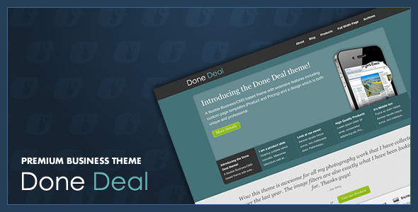 ThemeForest Done Deal 158151