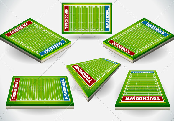 GraphicRiver Set of Football Fields in Six Positions 5636386