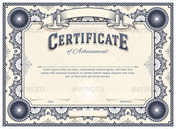 Certificate Template Decorative Download Photo