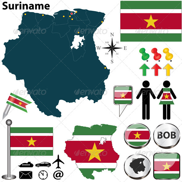 GraphicRiver Map of Suriname 5731517