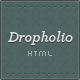 Dropholio - Creative HTML Portfolio & Blog - ThemeForest Item for Sale
