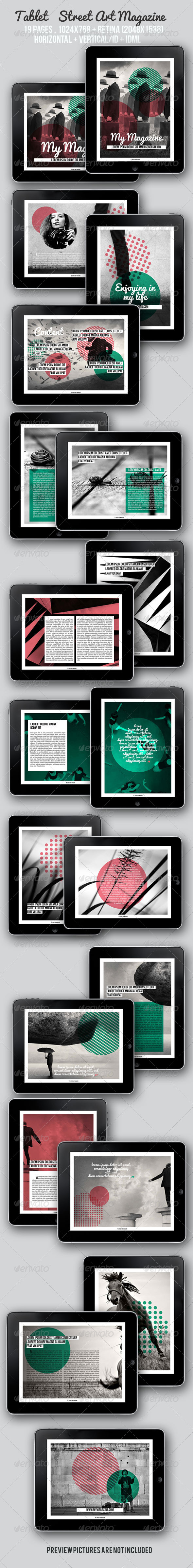 GraphicRiver Tablet Street Art Magazine 5644226