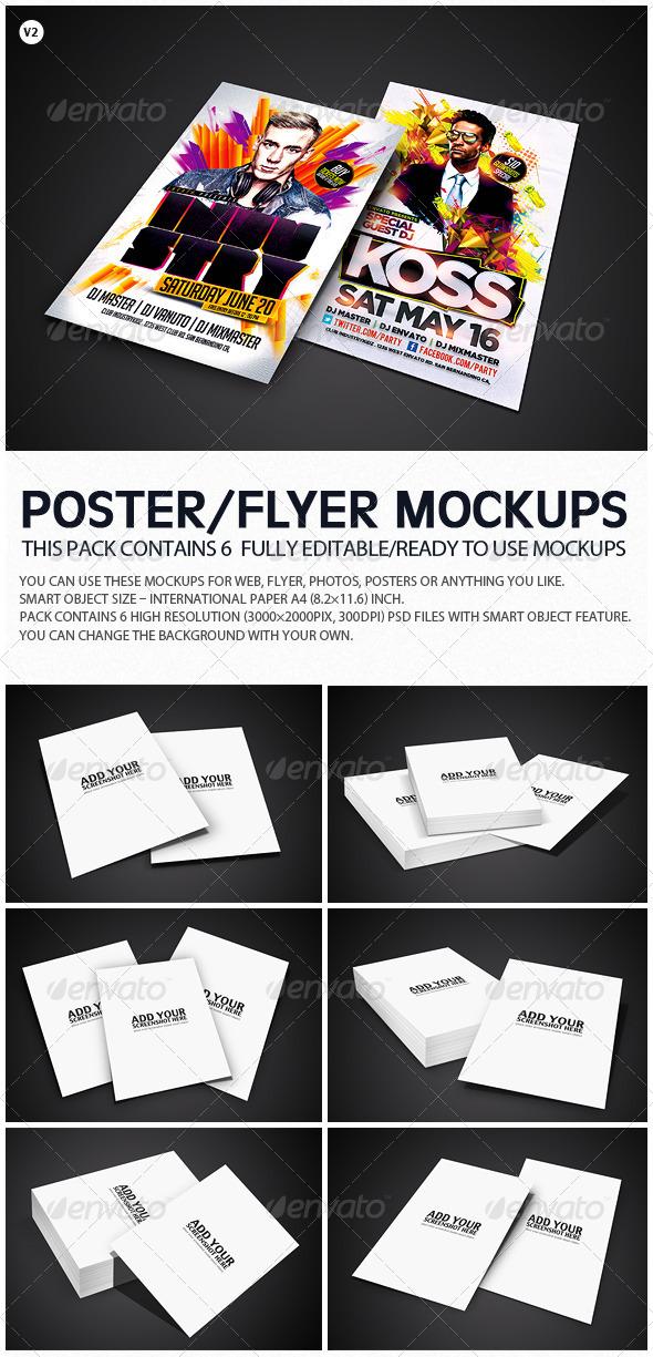 Flyer Poster Mockups V2 - Flyers Print