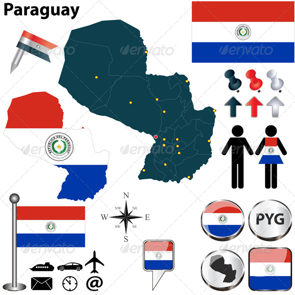 GraphicRiver Map of Paraguay 5732392